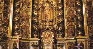 retablo mayor iglesia lumbier