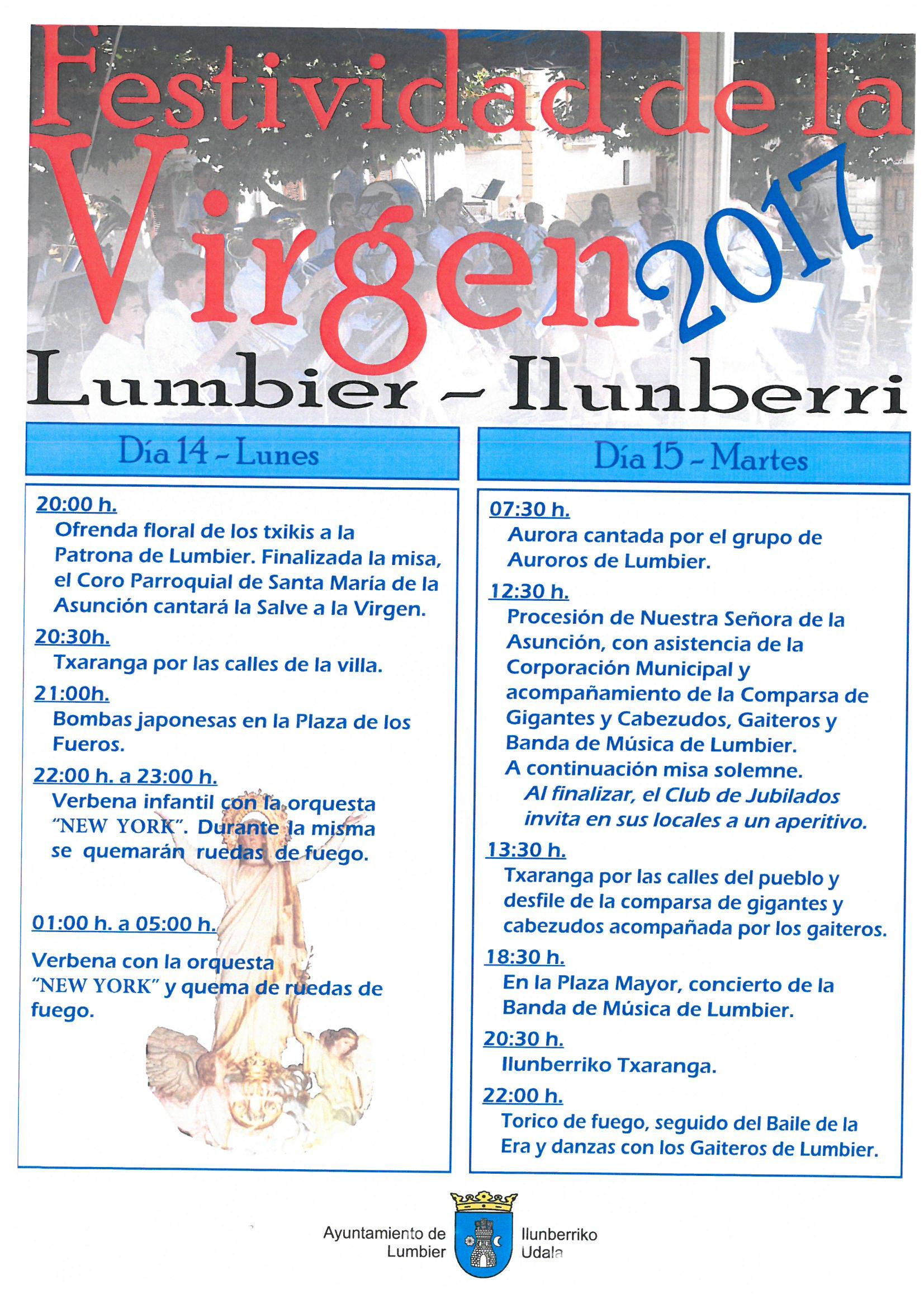 Cartel Virgen 2017